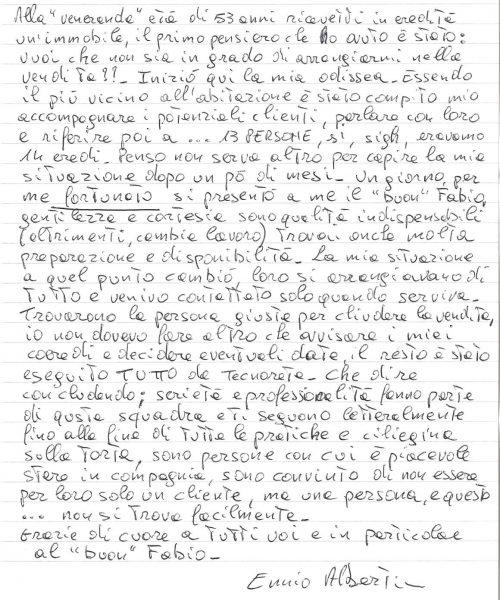 testimonianza venditore casa singola Tribano, ottobre 2012