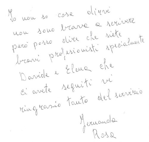 testimonianza venditore casa singola a Monselice, aprile 2014