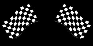 bandiera a scacchi, arrivo al traguardo