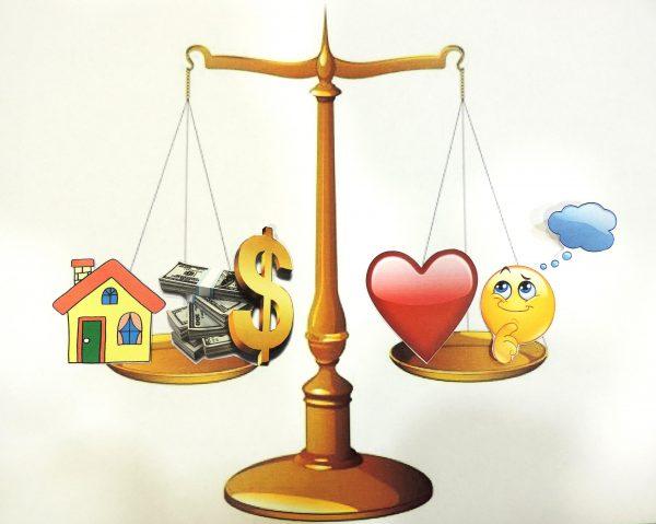 bilancia del perfetto equilibrio
